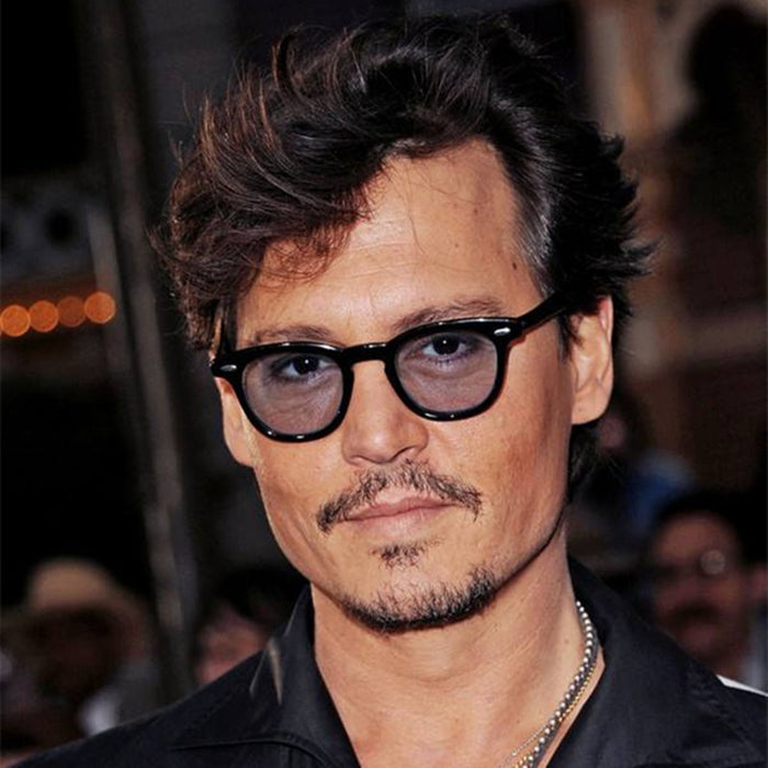 REALSTAR Super Star Johnny Depp Sunglasses for Men Women Brand Designer Retro Rivets Sun Glasses Eyewear Shades Oculos S322