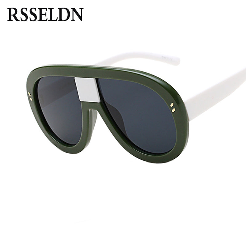 RSSELDN Newest Oversized Sunglasses Women Brand Designer Fashion Sun Glasses Female Shades Big Frame Style Ladies Eyewear UV400