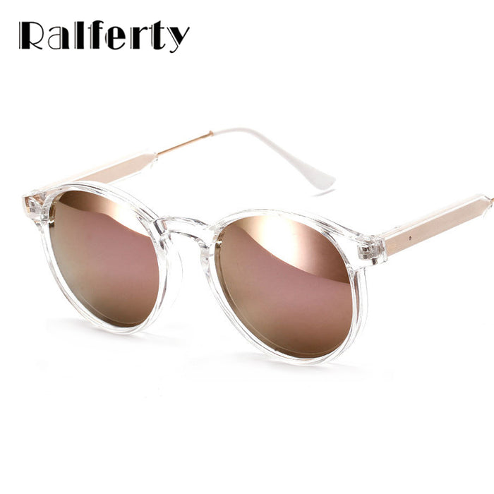 5885b0ed51 Ralferty Women Sunglasses Transparent Frame Anti UV Sun Glasses Pink Flash  Mirror Sunglass Female Shades Sunglases