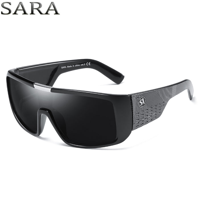 SARA Brand Fashion Sunglasses Men Dragon Sport Goggle Mens Sun Glasses Women Designer Windproof Shield Plastic Frame UV400 Lens