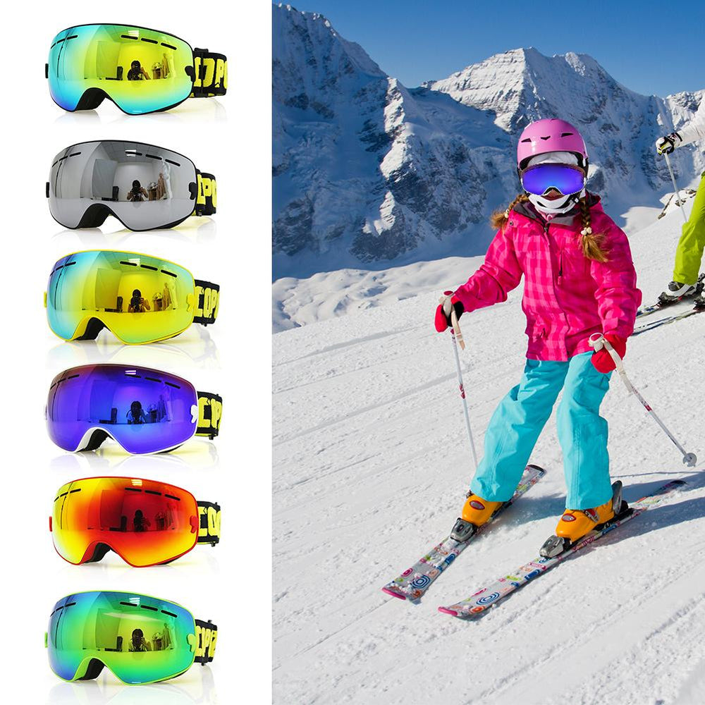 cee976a0b11b Ski Goggles For Children Snowboard Goggles Glasses For Skiing UV400  Protection Kids Snow Skiing Glasses Anti