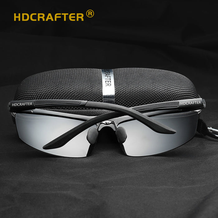 Sport Sun Glasses for Men Polarized Sunglasses Aluminum Alloy HD Driving Goggles Male UV400 Glasses Brand Design Eyewear Oculos
