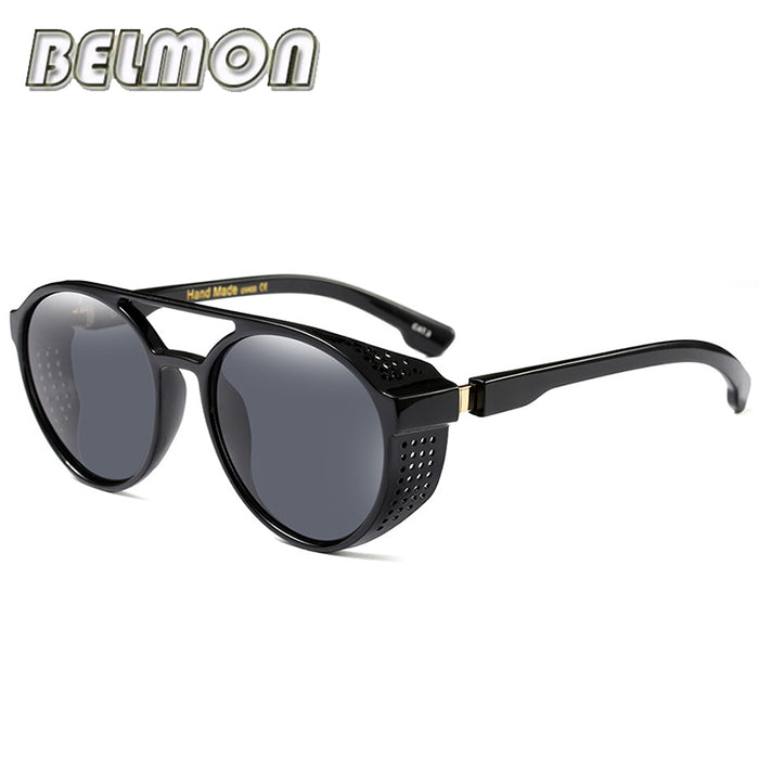 Steampunk Sunglasses Men Women Luxury Brand Designer Sun Glasses For Male Female Unisex Steam Goggles UV400 Oculos de RS280
