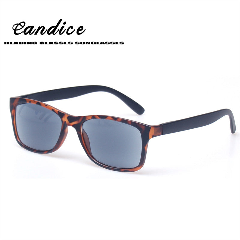 Sunglasses Reading Glasses Fashion Retangular Large Frame Readers Brown Lens Gray Lens Eyewears With Sun Glasses for Men Women