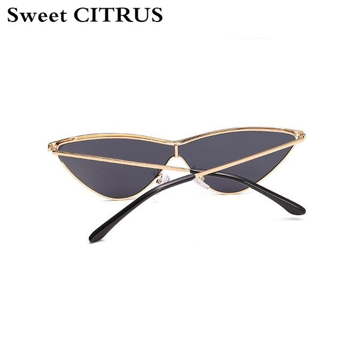 Sweet CITRUS Cute Sexy Ladies Cat Eye Sunglasses Women Metal Frame Triangle Vintage Gradient Sun Glasses For Female UV400