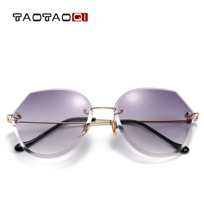 TAOTAOQI Luxury Brand Sunglasses Women Designer New Rimless Sun Glasses Women Vintage Fashion Female Eyewear UV400 oculos