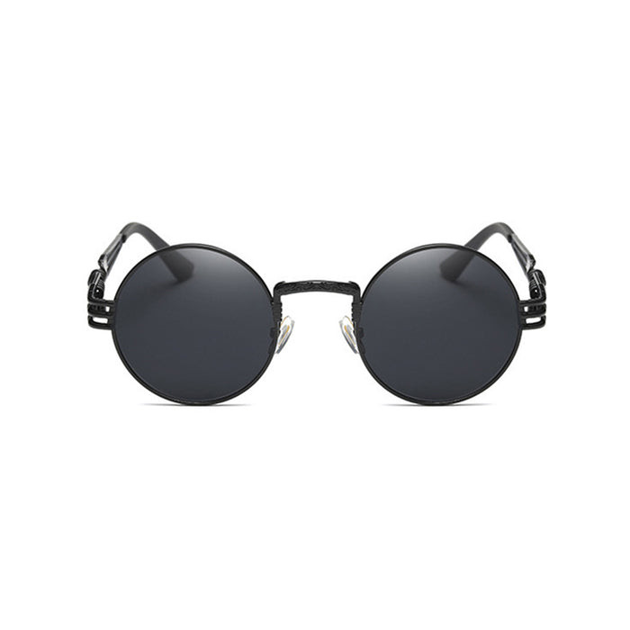 TSHING RAY Gothic Steampunk Round Sunglasses Men Metal Round Shades Male Clear Sun Glasses For Women Hip Hop Steam Punk