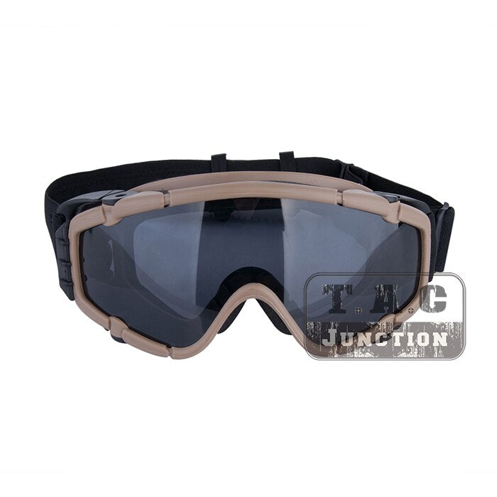 Tactical Paintball Anti Fog Ballistic Goggle Outdoor Eyewear 2pcs Lens Military Hunting Skate Cycling Safety Glasses w Turbo Fan
