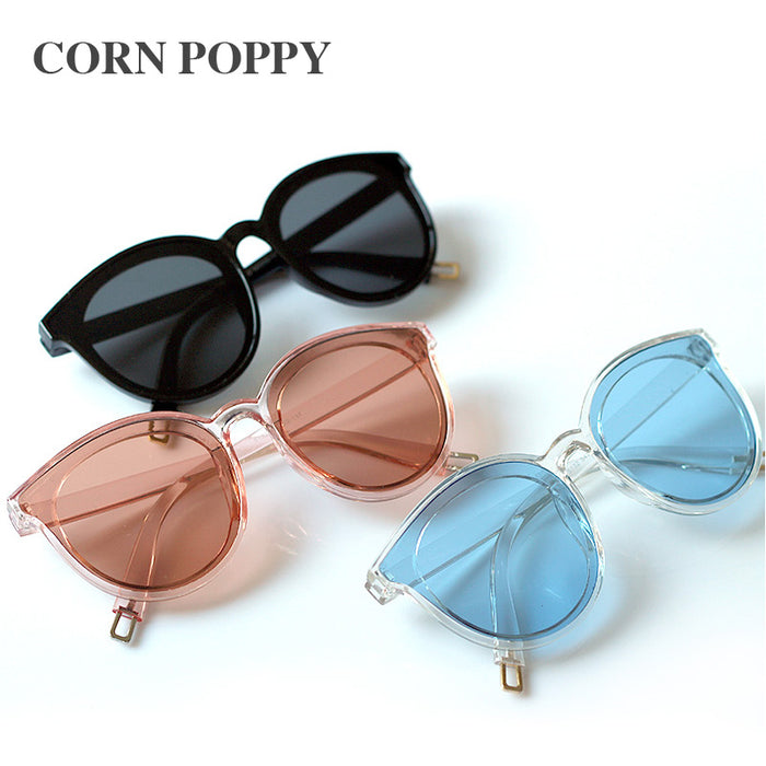 The legend of the sea blue new sunglasses Han edition women sunglasses fashion big glasses Retro Vintage Sunglasses