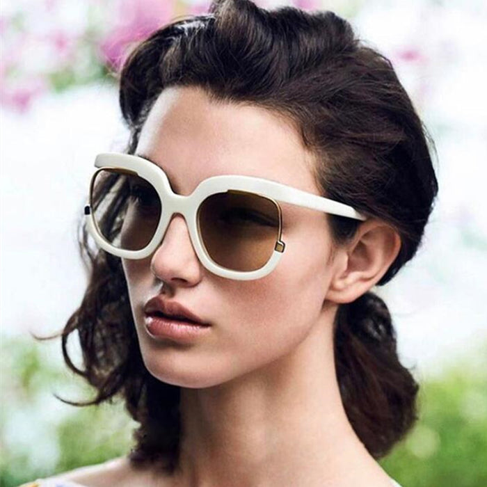 Top Oversized Black Sunglasses Fashion Women Large Size Big Retro Mirror Sun Glasses Lady Female Vintage Brand Designer UV400