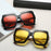 Unique Designer Women Oversized Square Sunglasses Flip Up Clear Lens Rerto Vintage Sun Glasses Goggles Eyewear New De Sol