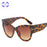 VCKA Fashion Brand Designer Cat Eye Women Sunglasses Female Gradient Points Sun Glasses Frame UV400 Big Oculos feminino de sol