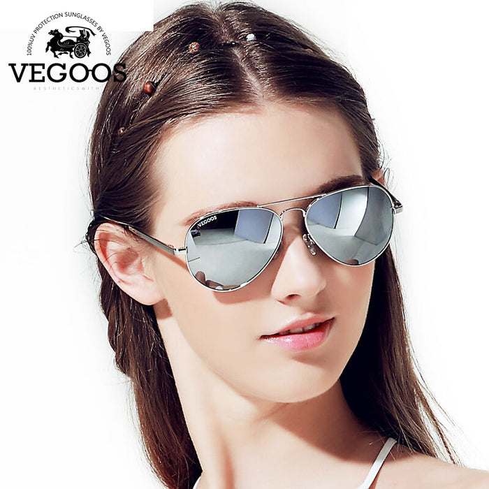 VEGOOS Hot Sales New Sunglasses Women Men Aviation Polarized Flash Mirrored Lens UV Protection Sun Glasses Oculos De Sol #3025W