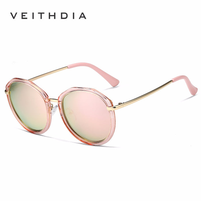 VEITHDIA Acetate Frame Women's Sun glasses Polarized Mirror Lens Luxury Ladies Designer Sunglasses Eyewear For Women oculos 3050