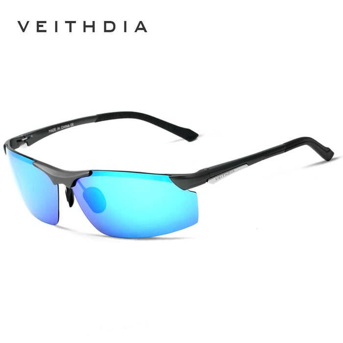 VEITHDIA Aluminum Magnesium Men's Sunglasses Polarized Men Coating Mirror Sun Glasses oculos Male Eyewear For Men 6511