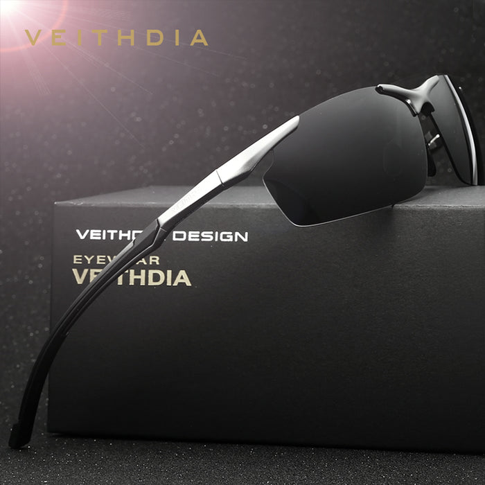 VEITHDIA Brand Designer Aluminum Magnesium Men's Sun Glasses Polarized Sun Glasses oculos Male Eyewear Sunglasses For Men 6592