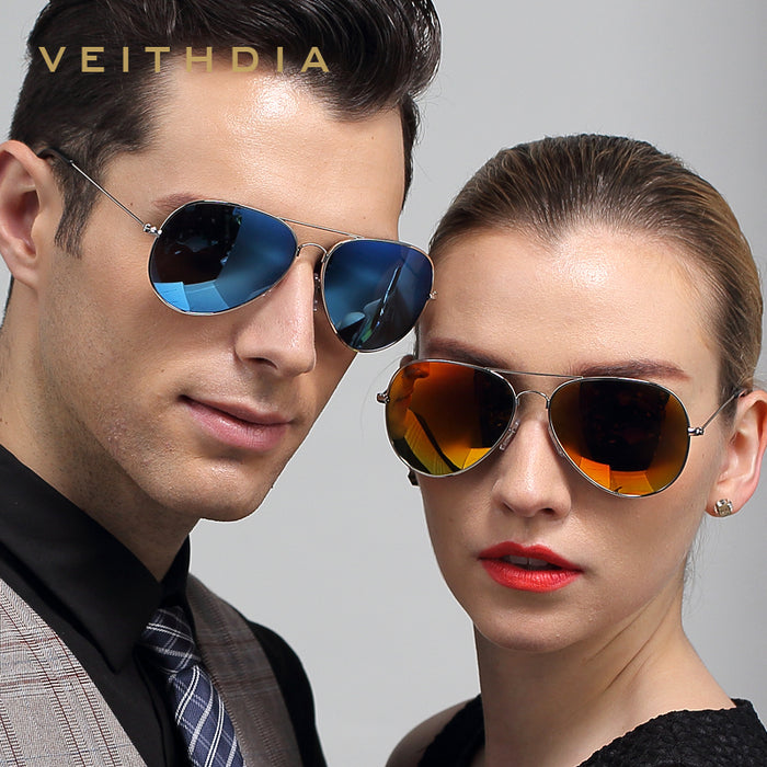 VEITHDIA Classic Fashion Polarized Sunglasses Men/Women Colorful Reflective Coating Lens Eyewear Accessories Sun Glasses W1