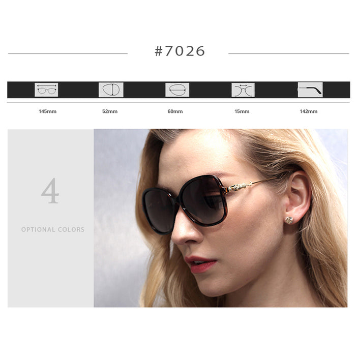 VEITHDIA Leopard Retro TR90 Women's Sun glasses Polarized Ladies Designer Sunglasses Eyewear Accessories For Women Women 7026
