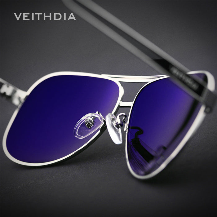 VEITHDIA With Original Case Polarized Sunglasses Men Brand Designer Sun Glasses UV 400 Lens gafas oculos de sol masculino 3152
