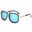 VISION Square Pilot Sunglasses Men Driving Male Luxury Brand Sun Glasses For Men Metal Designer Cool Shades MIRROR retro