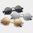 VRCHIC Gothic Steampunk Round Sunglasses Women Men Metal Wrap Eyeglasses Round Brand Designer Sun glasses Mirror UV400