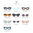 Vintage Cat Eye Sunglasses Women Fashion Tinted Color Lens Men Shaped Sun Glasses Brand Designer Cateye Mirror Sun Glasses UV400