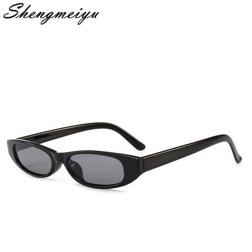 Vintage Rectangle Sunglasses Women Cat Eye Designer Ladies Small Frame Black Red Sun Glasses Brand Retro Skinny Eyewear