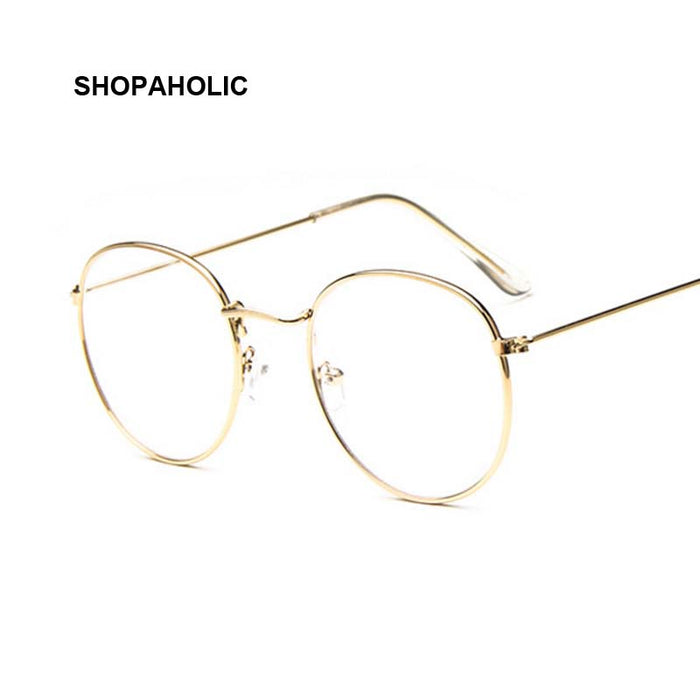 Vintage Round Sunglasses Women Men Female Brand Designer Metal Frames Mirror Sun Glasses for Women Retro Male Oculos De Sol