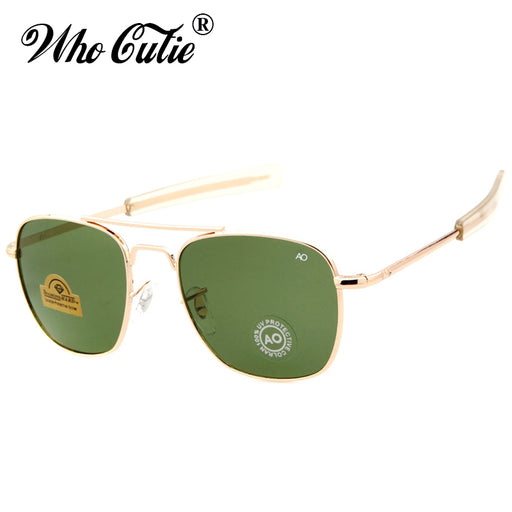 4dc4e43bc7 WHO CUTIE 2018 James Bond MILITARY Sunglasses Brand Design American Optical  Men Sunglasses AO Eyewear Square