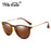 WHO CUTIE Classic Hot 4171 Polarized Round Sunglasses Men Women Brand Designer Tortoiseshell frame Sun Glasses Shades OM11