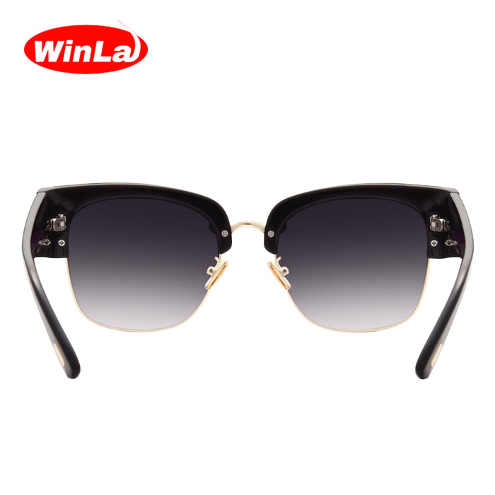 Winla Fashion Design Women Sunglasses Vintage Sun glasses Unique Semi-Rimless Gradient Lens Female Oculos de sol UV400 WL1084