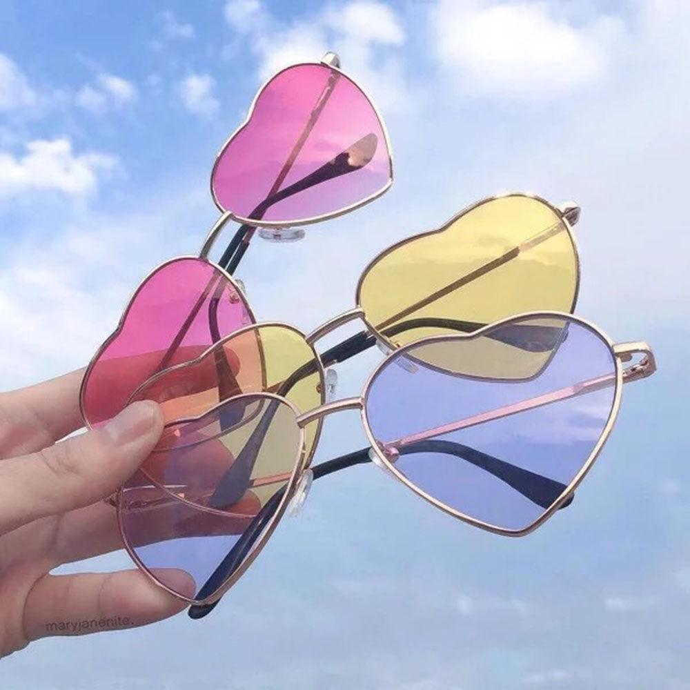Womens Heart Shape Sunglasses Festival Lolita Style Fancy Party Eye wear Glasses 1 pc Fashion New Sunglass