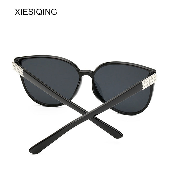 XIESIQING New Oversized Cat Eye Women Sunglasses Fashion Female Mirror Sun Glasses Vintage Shades European Style Sunglases