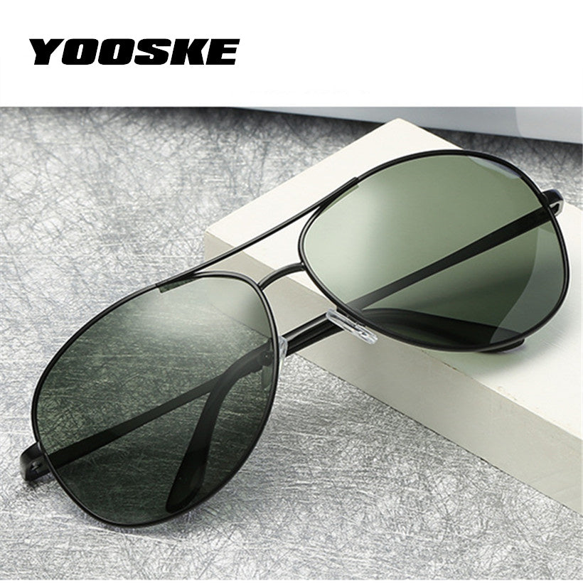 YOOSKE Brand HD Polarized Sunglasses Men Women Driver Driving Sun Glasses Vintage Anti-UV Goggles Classic Mnes Pilot Eyewear