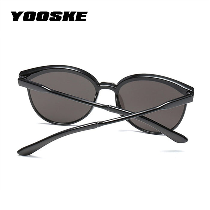a4f8a314e2725 YOOSKE Cat Eye Sunglasses Women Men Vintage Mirror Sunglass Womens Brand  Designer Retro Sun Glasses Goggles