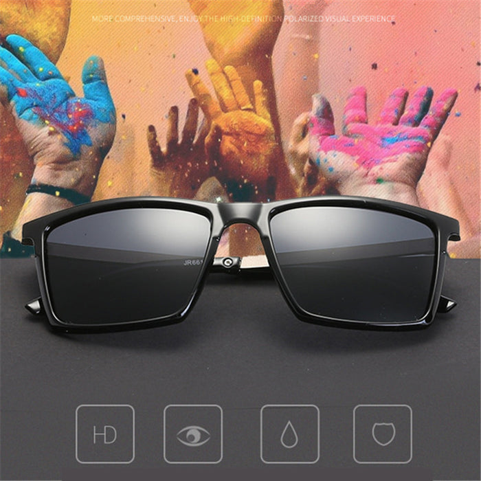 YOOSKE HD Polarized Lens Men Sunglasses Vintage Fashion Sun glasses Mens Sunglass Brand Designer Ultralight UV400 Eyewear