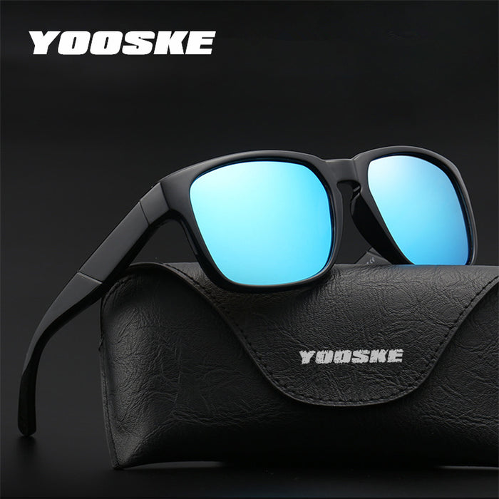 YOOSKE HD Polarized Sunglasses Men Women Brand Designer Driving Sun Glasses New Design Retro Sunglass UV400 Goggles Eyewear