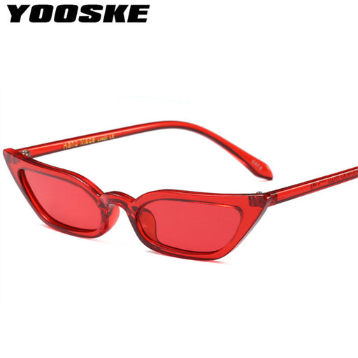 b4fbfb645d YOOSKE Vintage Sunglasses Women Cat Eye Luxury Brand Designer Sun Glasses  Retro ladies Sunglass Black Eyewear