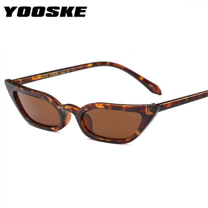 YOOSKE Vintage Sunglasses Women Cat Eye Luxury Brand Designer Sun Glasses Retro ladies Sunglass Black Eyewear