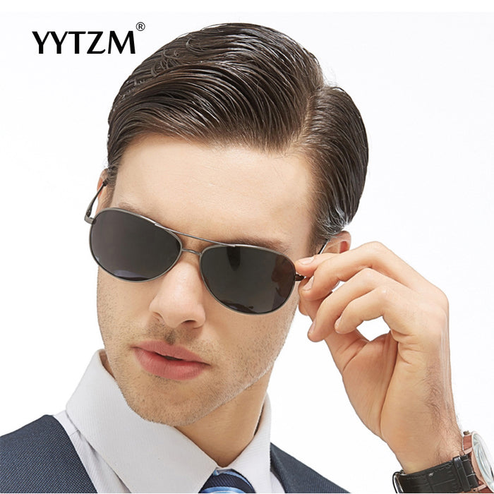 YYTZM brand design new fashion classic pilot polarized men's sunglasses coating high quality sun glasses men Anit-UV400 hot Sale