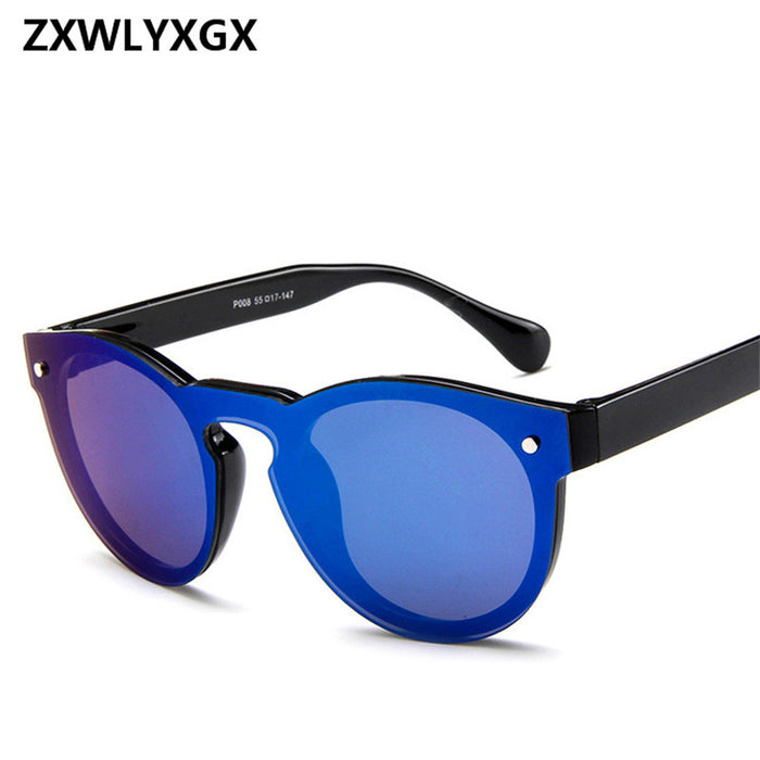 ZXWLYXGX Fashion Star Adult Mirror Goggle Rushed New Sunglasses Women Brand Sun Glasses Oculos De Sol Feminino Marc
