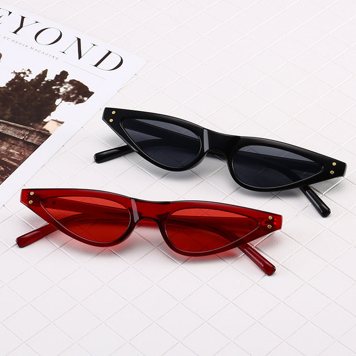 ZXWLYXGX Gifts New CatEye Sunglasses Women Brand Small Triangle Eyeglasses Vintage Stylish Sun Glasses Female UV400