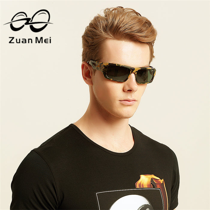 Zuan Mei Brand Sun Glasses For Men Hot Sale Polarized Sunglasses Men Driving Night Vision Polarized Glasses Women Big-Frame