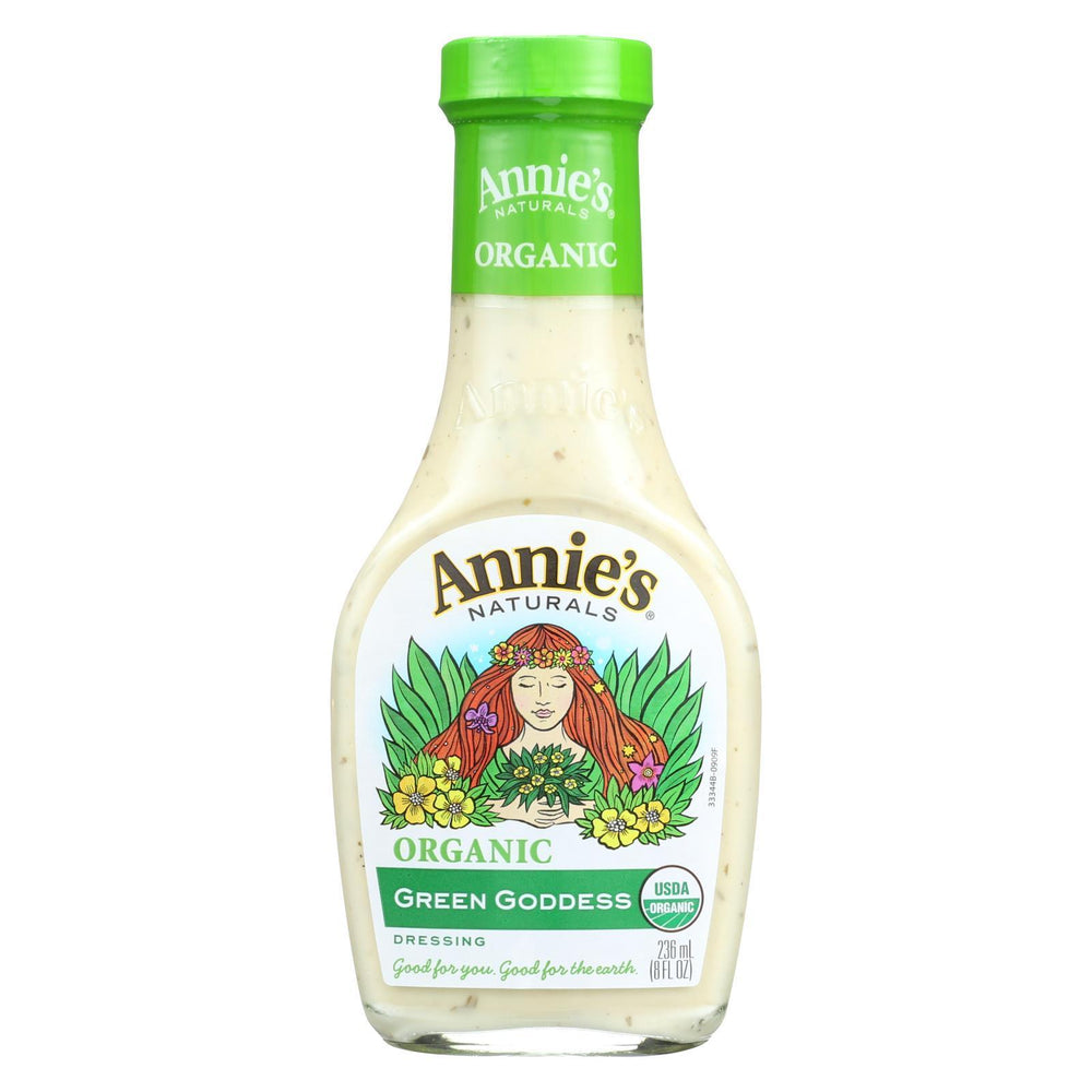 Annie'S Naturals Organic Dressing Green Goddess - Case Of 6 - 8 Fl Oz.-Eco-Friendly Home & Grocery-Annie's Naturals-EpicWorldStore.com