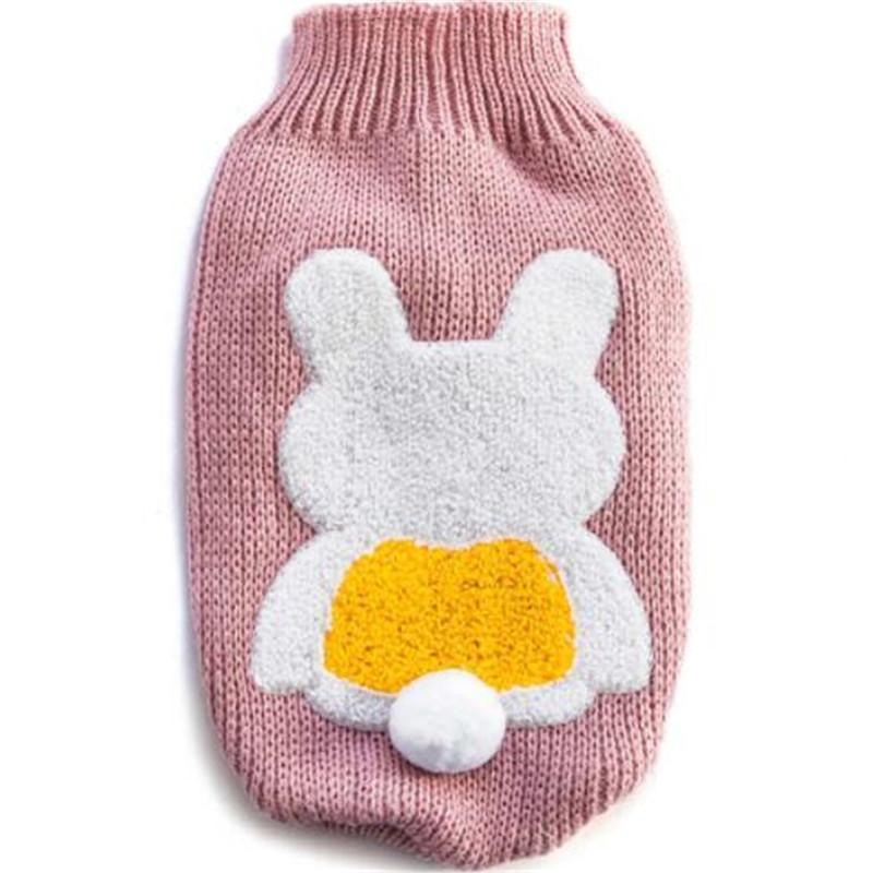 Autumn Winter Dog Sweater Pet Puppy Cat Clothes Sweaters Jumper Rabbit Pattern Pullover Knitted-Dog Sweaters-LYYSHG Store-pink-XS-EpicWorldStore.com