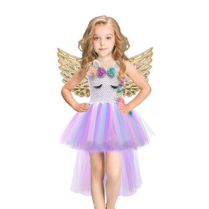 Baby Girls Dress Sequined Striped Princess Dress For Girls Unicorn Wedding Party Cosplay Dresses-Dresses-Baby Stylish Clothes Store-Black-2T-EpicWorldStore.com