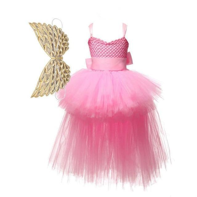 Baby Girls Dress Sequined Striped Princess Dress For Girls Unicorn Wedding Party Cosplay Dresses-Dresses-Baby Stylish Clothes Store-Pink-2T-EpicWorldStore.com