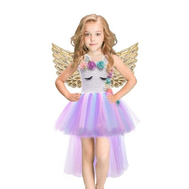 Baby Girls Dress Sequined Striped Princess Dress For Girls Unicorn Wedding Party Cosplay Dresses-Dresses-Baby Stylish Clothes Store-Rainbow-2T-EpicWorldStore.com