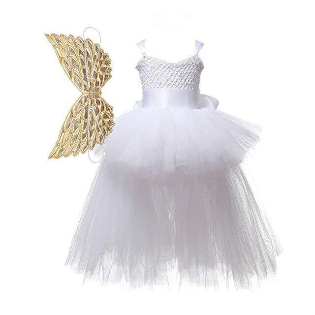 Baby Girls Dress Sequined Striped Princess Dress For Girls Unicorn Wedding Party Cosplay Dresses-Dresses-Baby Stylish Clothes Store-White-2T-EpicWorldStore.com