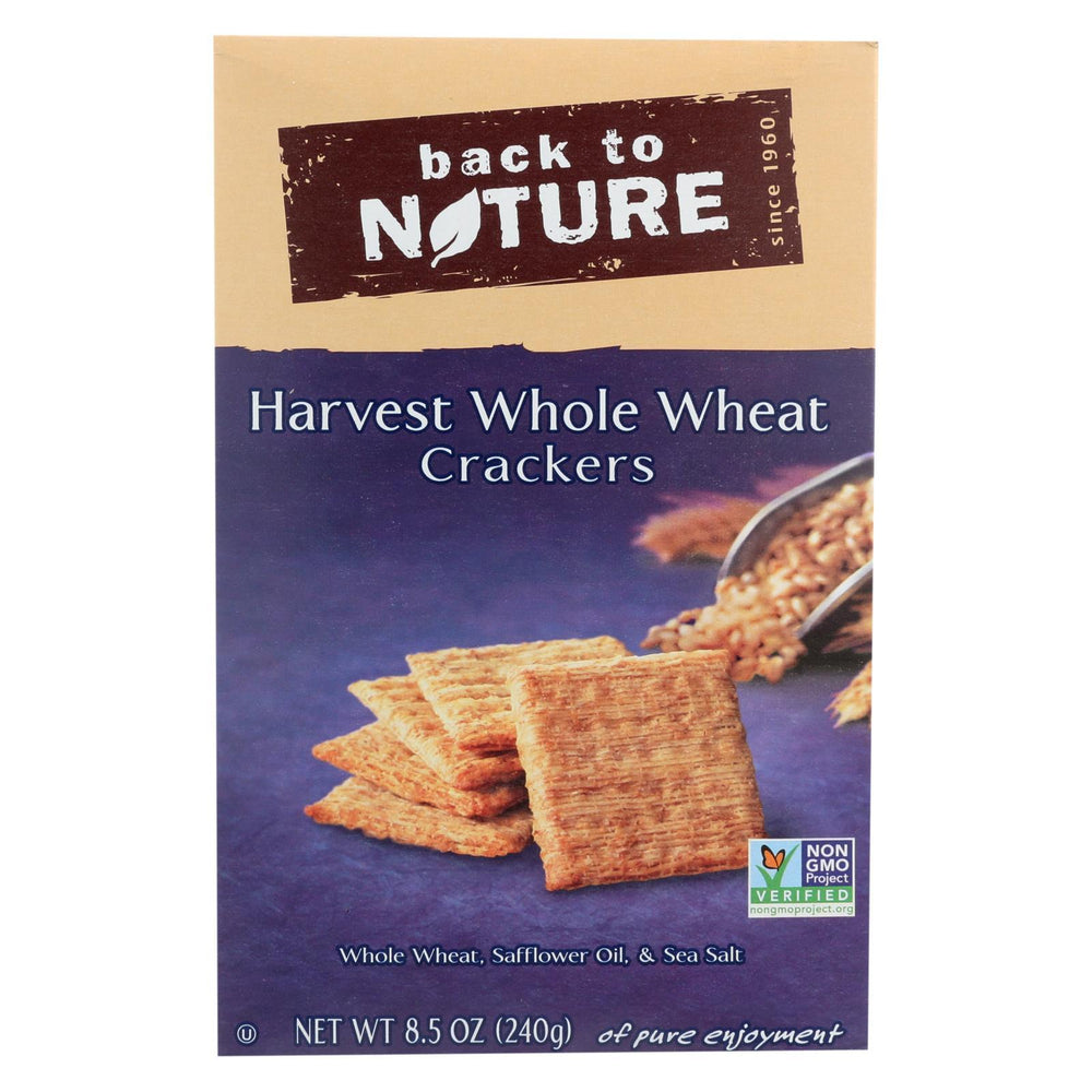 Back To Nature Harvest Whole Wheat Crackers - Whole Wheat Safflower Oil And Sea Salt - Case Of 12-Eco-Friendly Home & Grocery-Back To Nature-EpicWorldStore.com
